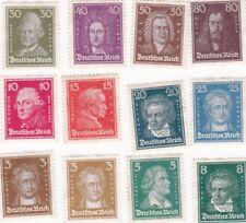 Germany Scott #'s 351-362 Famous men series MH/OG/VF