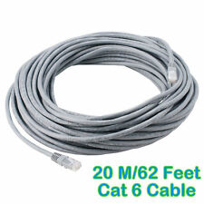 20M 62 Feet Meter LAN CAT6 RJ45 CONNECTOR CORD CABLE Ethernet Patch