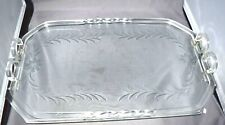 AWESOME Mid-Century Modern Vintage Lucite & Etched Glass Dresser/Vanity Tray