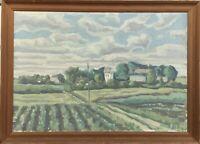 Winiger Tag Weite Landschaft EN 1954 Dänemark Skandinavien 52 x 72 cm