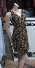 Designer Ralph Lauren Beautiful Classic Wraparound Sleeveless Mini Brown Dress 8
