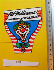 Williams Pinball Cyclone 1988 Decal/Sticker