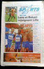 La voix des sport 1/9/2003; Lens et Bakari/ Championnats du monde d'athlétisme