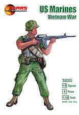 Mars 1/32 VIETNAM WAR US MARINES 15 Unpainted Plastic Toy Soldiers 32005 MIB