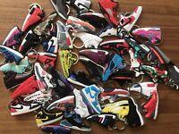 Random 6 Sneakers keychains Air Jordan Adidas Supreme Boost FAST SHIP