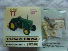 miniatur MT18b Spur TT Komplettbausatz Bausatz Traktor Zetor 25A Resin