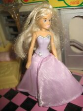 McDonalds Happy Meal Barbie with glittery Hair stands
