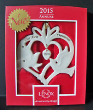 Lenox 2015 Annual Our First Christmas Together Doves Ornament New In Box