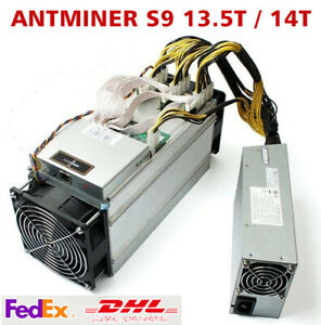 BTC BCH Bitcoin AntMiner S9 13.5T / S9 14T With 1600W PSU Miner Power Supply