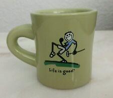 Life Is Good Lime Green Coffee Mug Tea Cup Golf Golfer Do What You Like