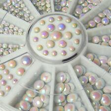 500Pc Cool Mixed White Gilter Rivet Nail Art Decor Rhinestone DIY Accessories