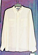 SUPER SHARP PEARL ELLEN TRACY LONG SLEEVE SHIRT - SIZE XL Price Reduced