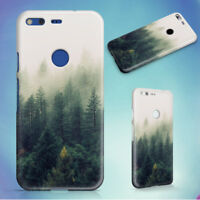 NATURE FOREST TREES FOG HARD BACK CASE FOR GOOGLE PIXEL PHONE