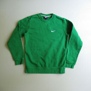 NIKE Swoosh Green Athletic Sweatshirt Shirt M