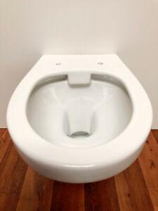 ADOB, spülrandlose wandhängende WC Keramik Toilette,     Spülrandlo weiss  28012