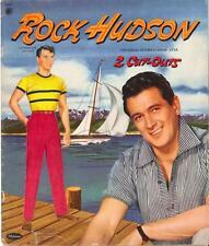 VINTAGE UNCUT 1957 ROCK HUDSON PAPER DOLLS HD LASER REPRODUCTION~LO PR~HI QUAL