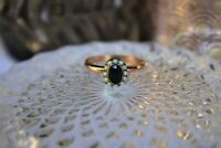 Bague marguerite ajustable argent or rose Saphir Perles Style ancien  NEUF Ring