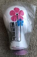Norman Kartiganer Mannequin Wig Head & Stand Form Styrofoam Hats Pink Base vtg