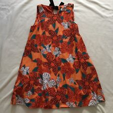 Max&Co. Orange Summer Dress with Black Bow Size 36 ( Max & Co )