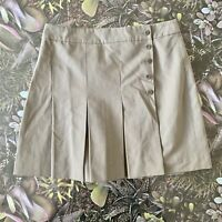 JIGSAW  Skirt Size 8 GREEN | Smart CASUAL Knee Length Pleated