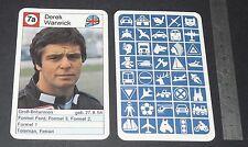 CARTE COUREUR AUTOMOBILE 1984 FORMULE 1 GRAND PRIX F1 DEREK WARWICK FERRARI