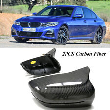 For BMW 3 series G20 G21 2019-2021 Side Mirror Cover Caps Replacement Crabon