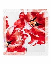 NWT Salvatore Ferragamo Tulimax Floral-Print 100% Silk Scarf Made in Italy
