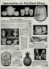 1951 PAPER AD Vitrified China Daisy Pottery Cookie Jar Pineapple Girl Cooky Tea