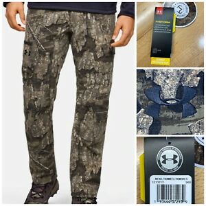 Under Armour UA Storm Field Ops Pants Realtree Timber 1313212 980 Men's 34 X 32