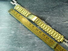 NEW OLD STOCK OMEGA 11-18MM FOR SEAMASTER COSMIC GOLD PLATED 1171 WATCH BAND