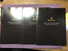 """In Rolex Quality� Book Rolex """"Make An Investment"""