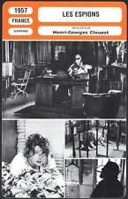 LES ESPIONS - Jürgens,Ustinov,Clouzot (Fiche Cinéma) 1957 - The Spies
