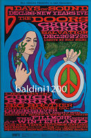 THE DOORS - JIM MORRISON - RARE 1967 QUALITY CONCERT POSTER-LOOKS AWESOME FRAMED