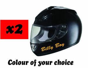 Personalised Motorcycle Motorbike Bike Crash Helmet  Names Sticker Decals