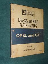 1968-1975 BUICK OPEL  & OPEL GT  PARTS CATALOG / ORIGINAL BOOK 69 70 71 72 73 74