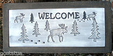 """plastic moose welcome bench top concrete 3/16th"""" plastic mold"""