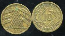 ALLEMAGNE 10  rentenpfennig  1924 F  ( bis )