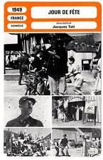 FICHE CINEMA : JOUR DE FETE - Tati,Decomble,Frankeur 1949