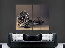 "BLACK ROSE ARTE GOTICA immagine grande parete poster gigante"""
