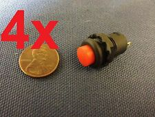 4x 12v Red Self-locking Push Button Switch Latching ON/OFF c7