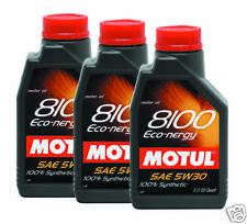 MOTUL 8100 Eco-nergy 5W30 Synthe Engine Oil 1L 3 BOTTLE