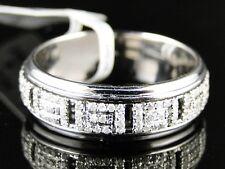 14K Mens Womens White Gold Diamond Wedding Eternity Spinning Round Band Ring