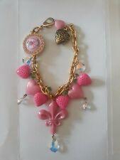 Stupendo braccialetto TARINA TARANTINO rosa con cristalli Swarovski. Pink charms
