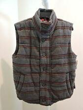BURKMAN BROS Wool Blend Multi-Colored Filled Thick Vest - Size - Small