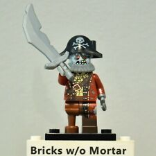 New Genuine LEGO Zombie Pirate Minifig with Sword Series 14 71010