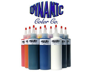 DYNAMIC COLOR 10-pack TATTOO INK SET 1-oz Bottle Bright Vibrant Color Supply