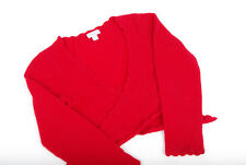 L072/52 Monsoon Wool/Angora Red Romantic Shrug Cardigan ,age 4-6