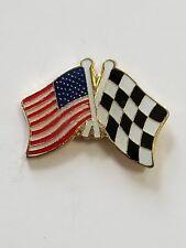 Usa Flag American Flag Checker Flag Crossed Flag Lapel Hat Pin Tie Tac Fast Ship
