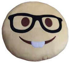Nerd Face Emoji Pillow Emoticon Cushion Yellow Plush Doll Toy- Used