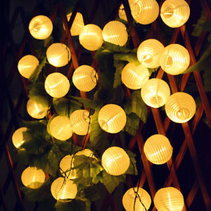 30 LED Outdoor Fairy Solar Powered String Lights Lantern Lamps Christmas Decor